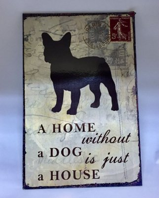Placa Home Buldogue Francês