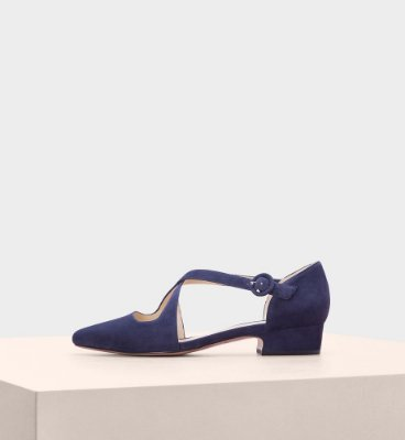 FLORENCE FLAT SUEDE NIGHT SHADE