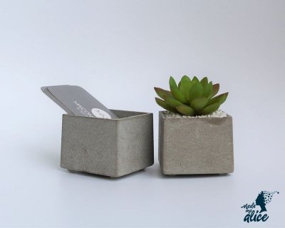 Mini Vaso em Concreto BE.104 - Kit com 2