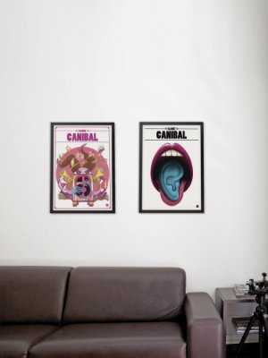 Kit com 2 Posters A3 Canibal