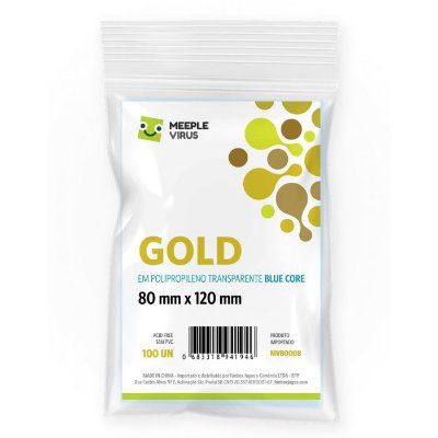 Sleeves GOLD 80 x 120 mm Blue Core