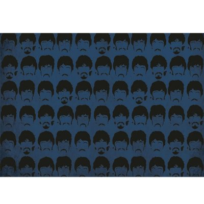 Capacho Beatles Blue