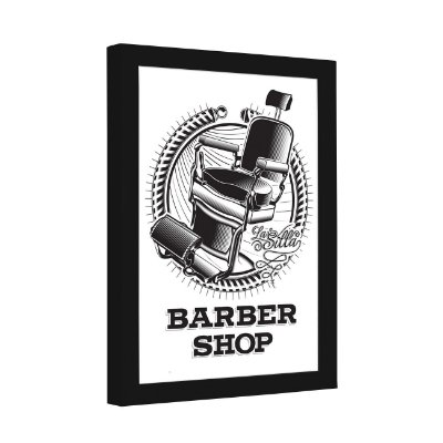 Quadro Decorativo Cadeira Barber Shop