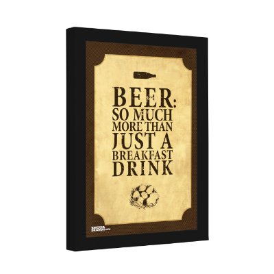 Quadro Decorativo Beer So Much More than Just a Breakfast Drink