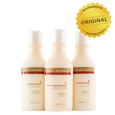 Escova Progressiva G-Hair Inoar (3 x 250ml)