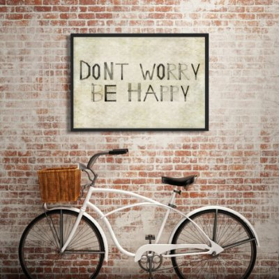 Quadro dont worry be happy FF012
