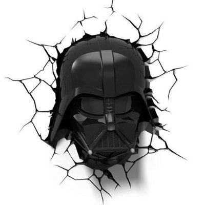 Luminária 3D Star Wars Máscara Darth Vader
