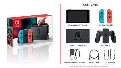 Console Nintendo Switch Neon Blue e Neon Red Joy 32Gb - Nintendo