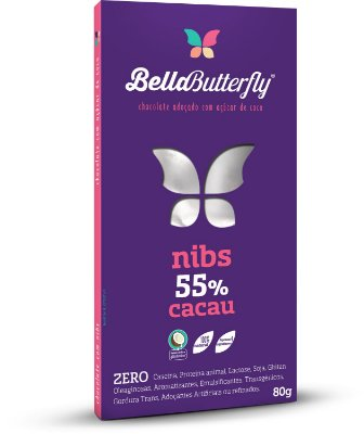 Tablete BELLABUTTERFLY - Nibs 80g