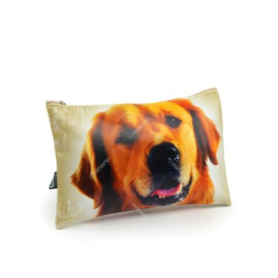 Necessaire Estampada Média Cachorro Golden Retriever