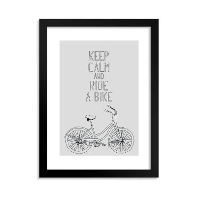 Quadrinho Decorativo Keep Calm and Ride a Bike