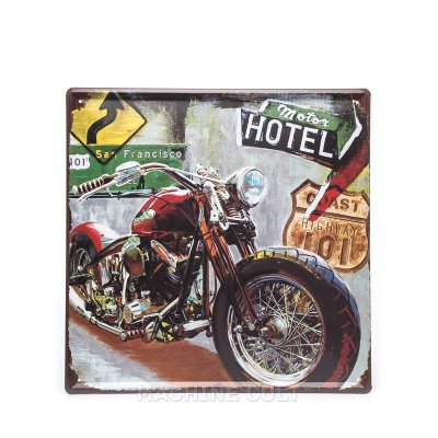 Placa Decorativa Moto