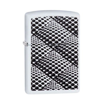 Isqueiro Zippo 29416 Classic Dots and Boxes Branco