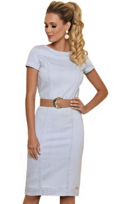 BC5248 - Vestido Denim knit - Base Café