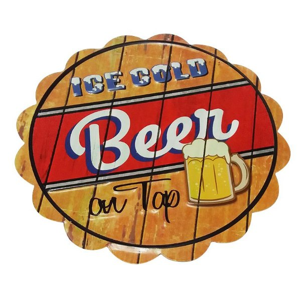 Placa decorativa - Ice cold beer