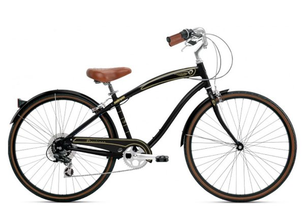 Bicicleta retrô Nirve - Starliner gloss black quadro 17