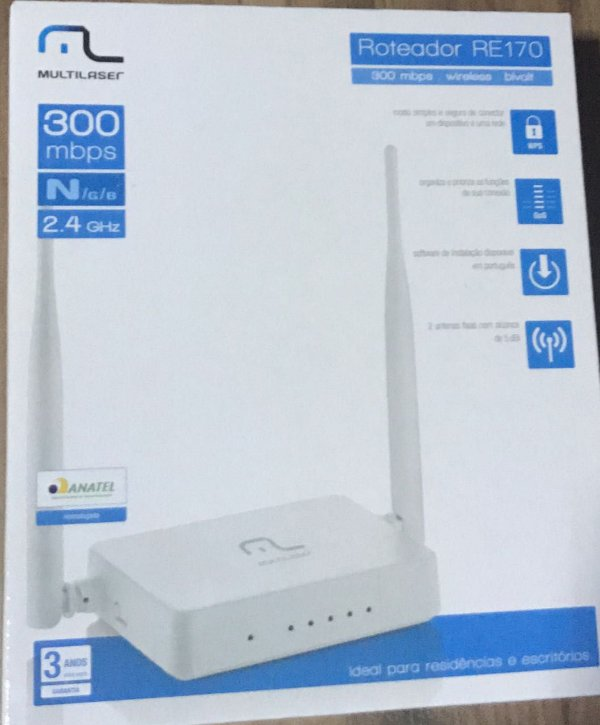 ROTEADOR WIRELESS 300MBPS RE170