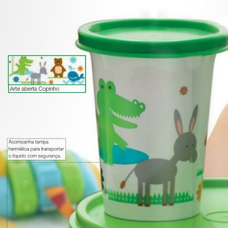 Tupperware Copinho de Animais 200 ml Verde