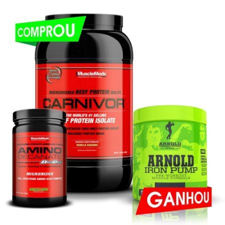 Kit Carnivor 2lb + Amino Decanate (300g) + Iron Pump (180g/30doses)