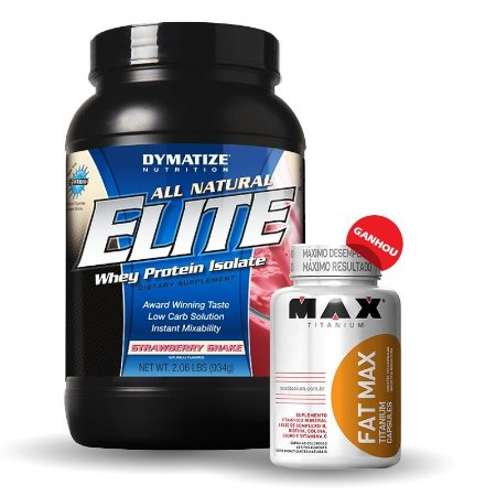 Elite Whey Protein Isolate (907g) - GRÁTIS FAT MAX THERMO  - Dymatize