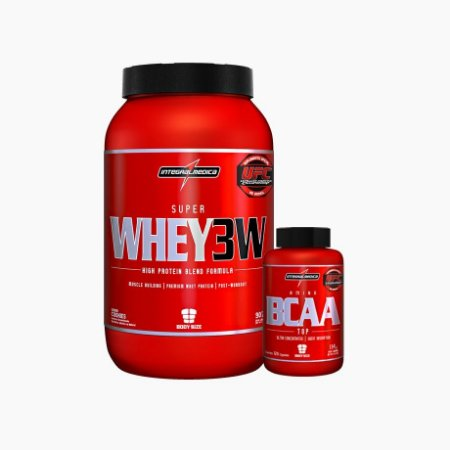 Super Whey 3w + Bcaa Top 120 Caps - Integral Medica