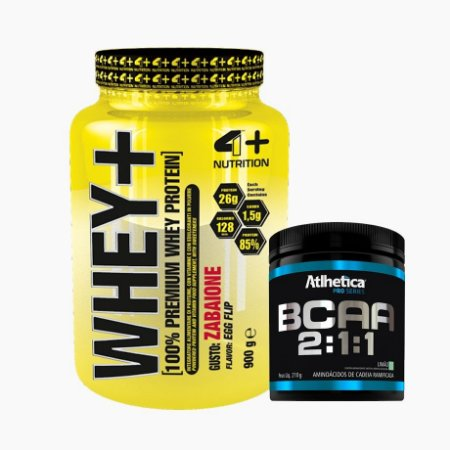 Whey+ (900g) + BCAA Pro Series (210g) - 4 Plus Nutrition