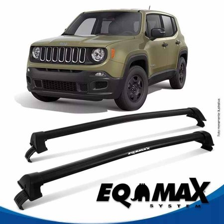 Rack Eqmax Jeep Renegade sem longarina New Wave 15/16 preto
