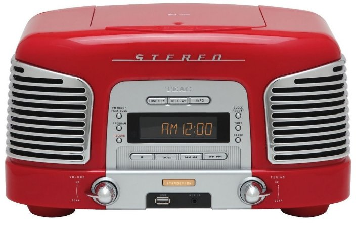 Micro System Rádio Retro Teac SLD-920 - Cd, Am, Fm, Aux, Usb