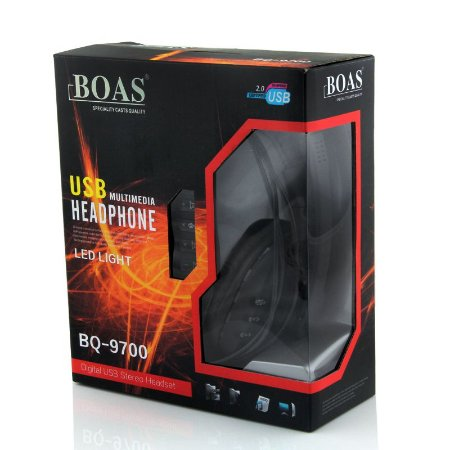 HeadSet Gamer Boas BQ-9700 USB com Led
