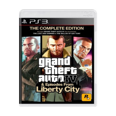 Jogo Grand Theft Auto IV & Episodes From Liberty City: The Complete Edition (GTA 4) - PS3