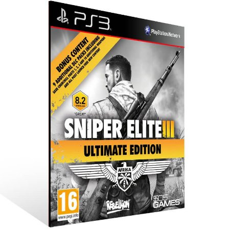 Sniper Elite 3 Ultimate Edition - Ps3 Psn Mídia Digital