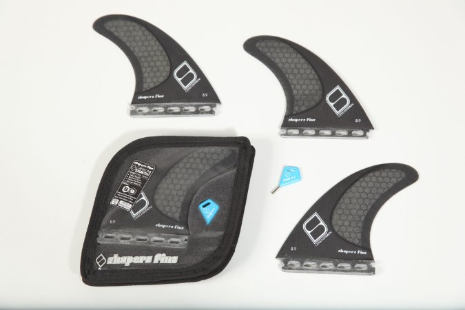 Jogo de Quilhas Shapers Single Tab S9 Carbon Stealth Thruster - XL
