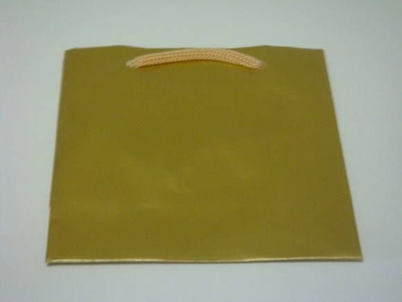 Sacola papel Ouro 10x10 (PP) c/10 unids