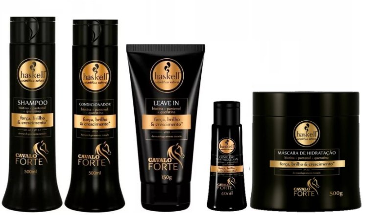 kit completo Cavalo Forte Haskell Profissional