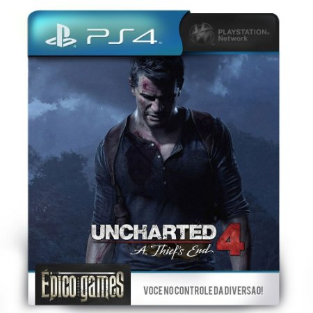 UNCHARTED 4 - A Thief's End - PS4 - Midia Digital