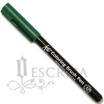 Caneta Pincel Koi Coloring Brush Pen Sakura - Verde XBR#29