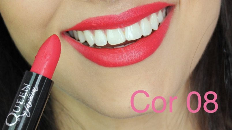Batom Queen Makeup Matte - Cor 08