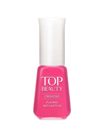 Esmalte Top Beauty Cremoso Playing Leticia. (Caixa com 6)