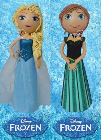 CURSO VIRTUAL PRINCESAS FROZEN EM E.V.A. 3D