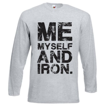 CAMISETA MANGA LONGA ME MYSELF AND IRON