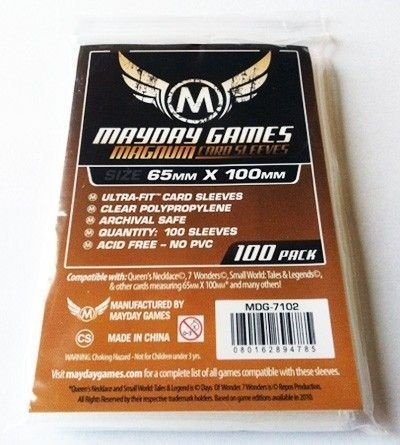 "SLEEVES MAYDAY MAGNUM ULTRA-FIT ""7 WONDERS""  STANDARD (65X100) - 100 UNIDADES"
