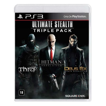 Jogo Ultimate Stealth Triple Pack: Thief + Hitman: Absolution + Deus Ex: Human Revolution - PS3