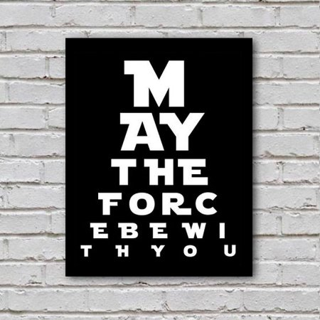 Placa de Parede Decorativa: May the Force be With You - ShopB