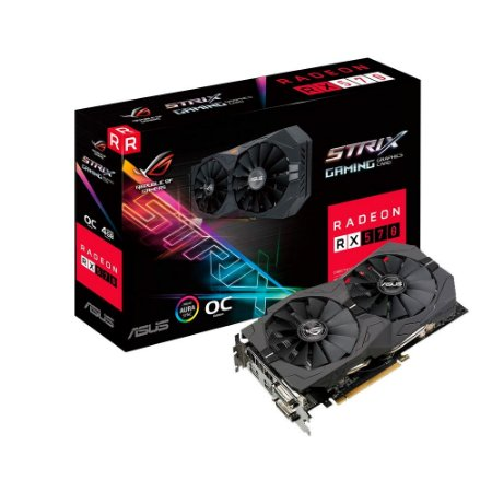 Placa de Vídeo RX 570 4GB D5 ASUS ROG-STRIX-RX570-O4G-GAMING 90YV0AJ0-M0NA00