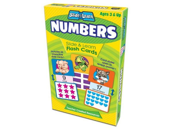 NUMBERS SLIDE AND LEARN FLASHCARDS