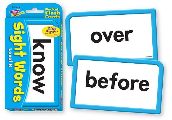 SIGHT WORDS LEVEL B (KNOW) FLASHCARDS