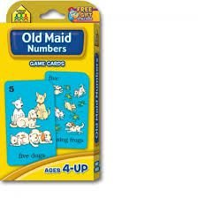 OLD MAID - NUMBERS - GAME CARDS