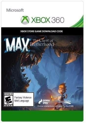 Jogo Max: The Curse Of The Brotherhood - Xbox 360 Mídia Digital