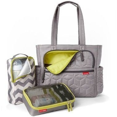 Bolsa Maternidade SKIPHOP (Diaper Bag) Forma Pack&Go - Grey