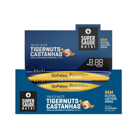 Barras Nuts Tigernuts + Castanhas - Display com 12 unidades